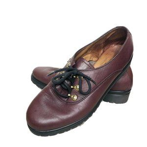 Rohde Shoes Burgundy Lace Up Oxfords Leather Shoes
